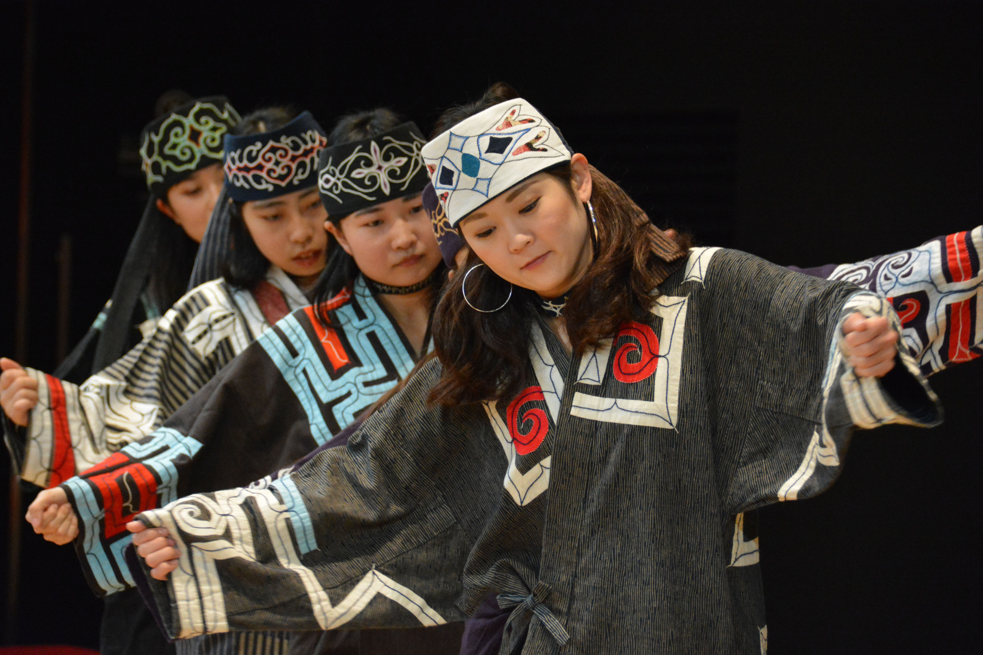 Visitors can see a traditional Ainu dance at the Upopoy National Ainu Museum and Park, which will open in Hokkaido in April. | COURTESY OF THE FOUNDATION FOR AINU CULTURE