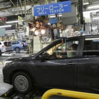 Subaru Corp. will suspend operations at its plant in Ota, Gunma Prefecture, from April 11 to May 1 as the coronavirus has hit demand and disrupted parts supply. | KYODO