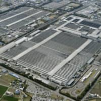 Toyota on Friday suspended seven production lines at five domestic plants due to a fall in demand amid the coronavirus outbreak.  | KYODO