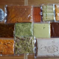 Los Tacos Azules' 'survival taco kit,' packed for delivery. | COURTESY OF LOS TACOS AZULES
