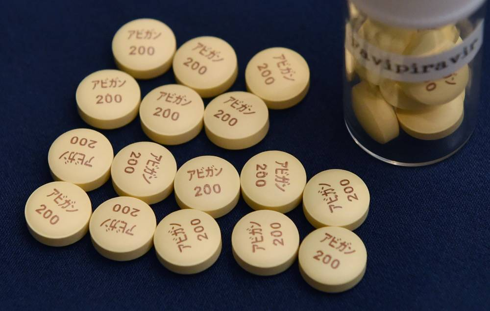 Anti-influenza Avigan tablets developed by a group firm of Fujifilm Holdings Corp. | AFP-JIJI