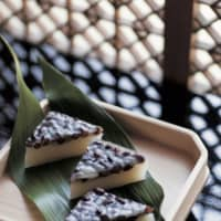 Sweet luck: From the historic Japanese confectioner Eirakuya in Hayama, these minazuki cakes are named for the sixth month of the year in the old Japanese calendar. They are intended to ward off evil and bring good luck. | SHOGO OIZUMI
