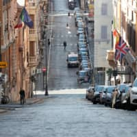 Streets in Rome remain mostly empty as the COVID-19 outbreak continues.  | REUTERS
