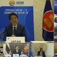 Abe and other Asian leaders affirm urgent need to develop coronavirus treatment
