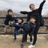 Fumika Nitta is a 30-year-old mother of three boys — age 9, 6 and 3 — whose part-time job has been suspended since early March. Her husband has been working from home since last week.  | COURTESY OF FUMIKA NITTA