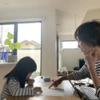 Midori Enomoto has been trying to teach her two children at home herself since schools around Japan closed on March 2, but says there is a limit to what she can do. | COURTESY OF MIDORI ENOMOTO