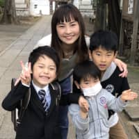 Fumika Nitta says stress is building up in her house, but she is reluctant to let her children play outside for fear of catching the COVID-19 virus.  | COURTESY OF FUMIKA NITTA