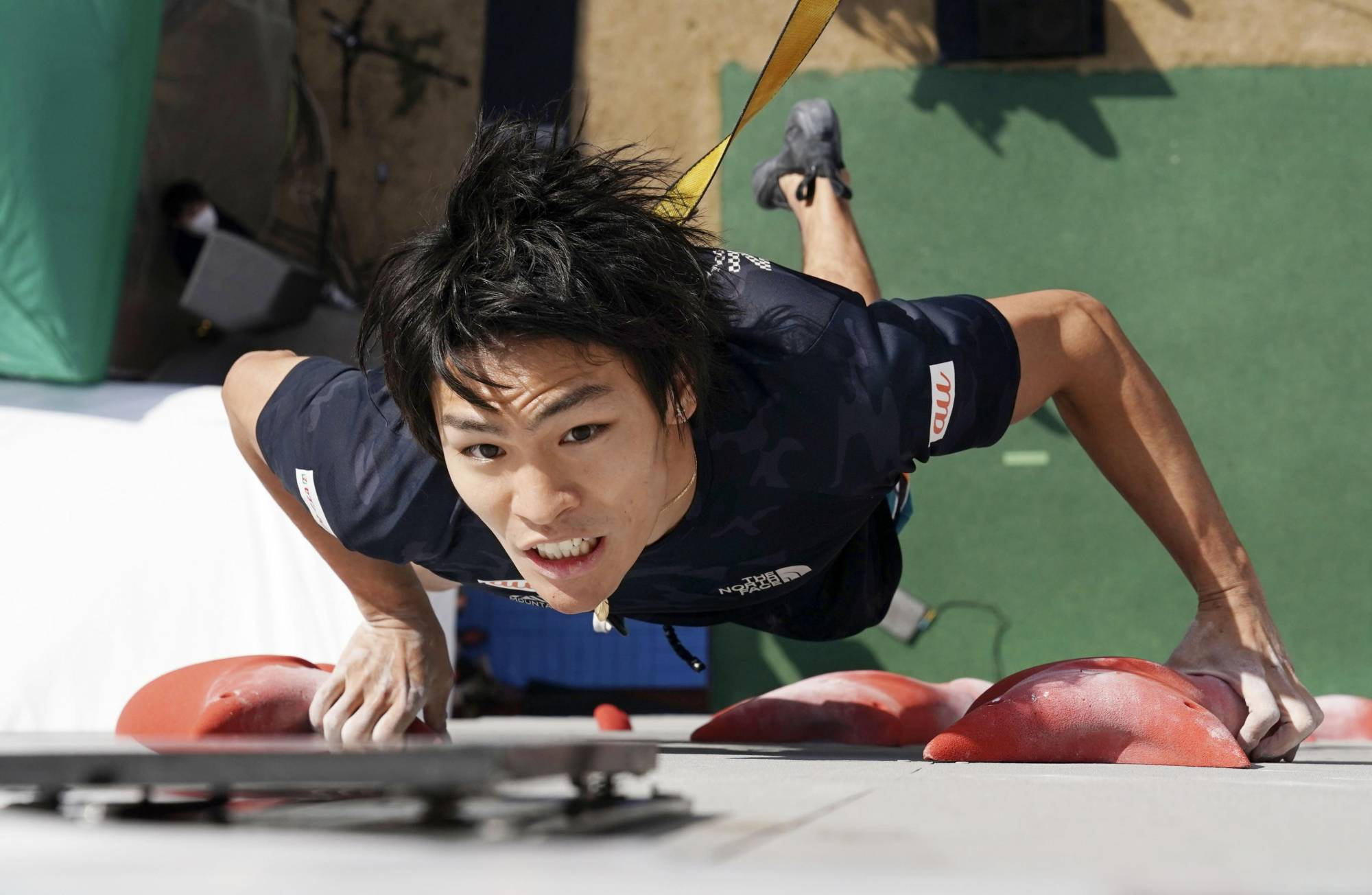 Reigning world champion Tomoa Narasaki had been looking forward to competing in the sport climbing event during the 2020 Tokyo Olympics this summer. The games have been delayed due to the COVID-19 pandemic. | KYODO
