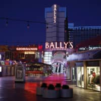 The outdoor mall at Bally's Las Vegas is seen on April 14 in Las Vegas. | AP