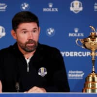 Padraig Harrington speaks at a news conference following his appointment as captain of Europe's 2020 Ryder Cup team on Jan. 8, 2019, in Virginia Water, England. | ACTION IMAGES / VIA REUTERS