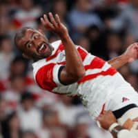 Michael Leitch is seen in action against Russia during the Rugby World Cup on Sept. 20, 2019, in Tokyo.  | REUTERS