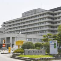 A hospital in the city of Toyama where a cluster of COVID-19 cases occurred this month | KYODO