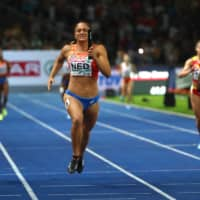 Athletes compete in the women's 4x100 relay final at the 2018 European Championships in Berlin. Organizers on Thursday announced the cancellation of the 2020 edition, which was set to take place in Paris in late August, due to the ongoing COVID-19 crisis. | REUTERS