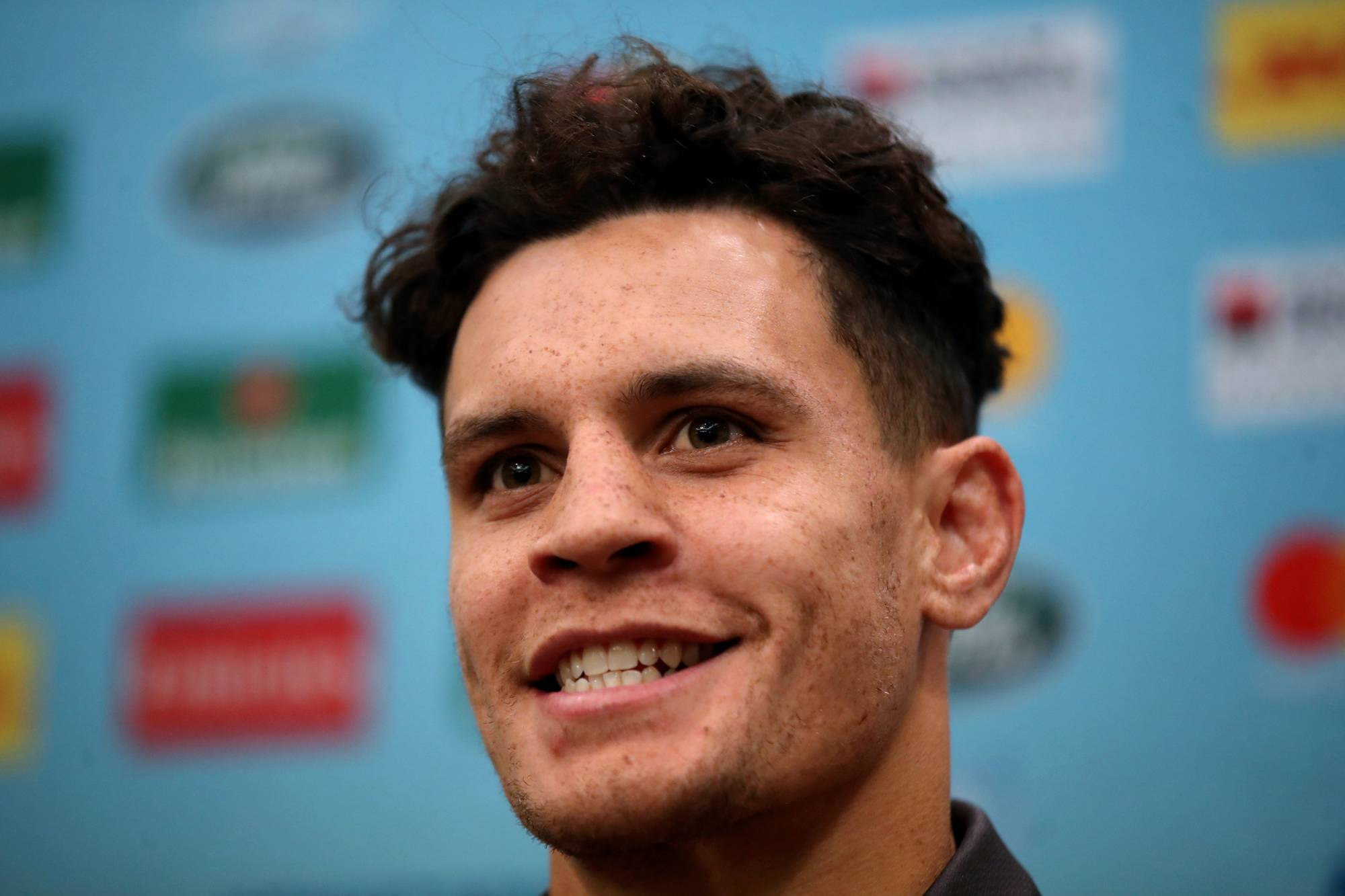 Australia's Matt Toomua participates in a news conference during the 2019 Rugby World Cup on Sept. 19, 2019, in Sapporo. | REUTERS