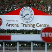 Arsenal's training facility in St. Albans, England, is seen on March 13. | REUTERS