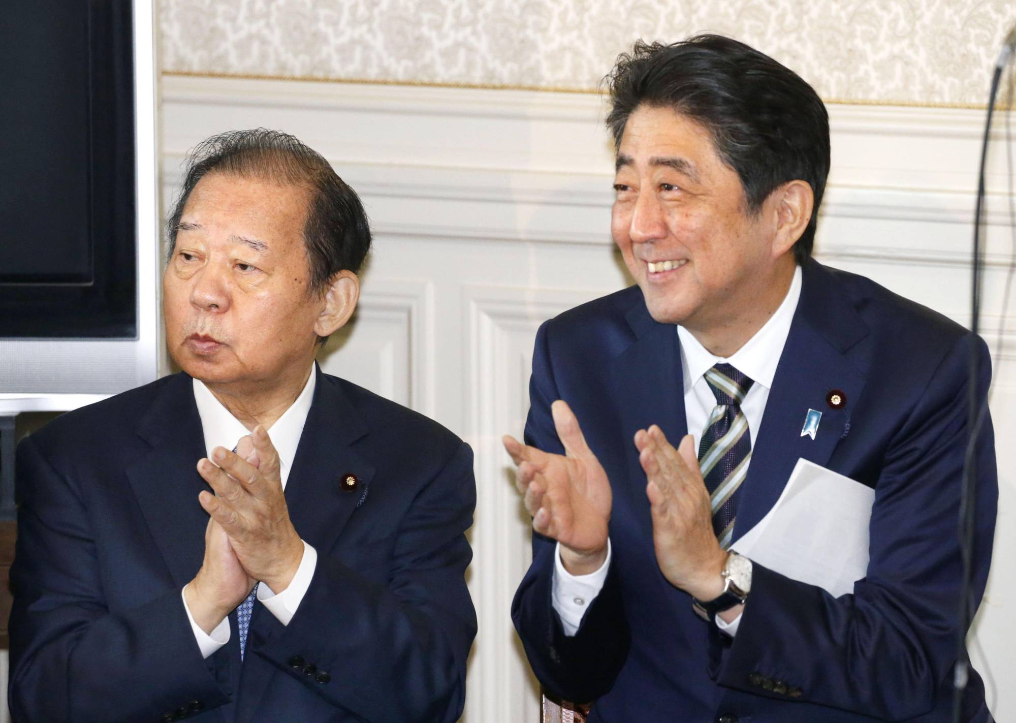 With a record of securing solid Liberal Democratic Party wins in Diet elections and showing strong support for Prime Minister Shinzo Abe, LDP Secretary-General Toshihiro Nikai is a powerful party leader and loyal Abe ally. | KYODO