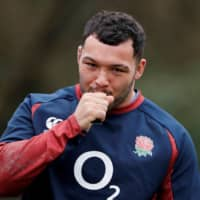England's Ellis Genges trains ahead of a Six Nations match on March 4 in Bagshot, England. | ACTION IMAGES / VIA REUTERS