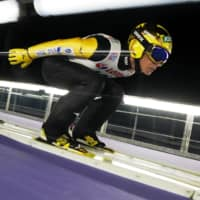 Noriaki Kasai competes at a ski jumping world Cup event in Wisla, Poland, on Nov. 22. | ACTION IMAGES / VIA REUTERS