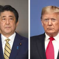 Prime Minister Shinzo Abe and U.S. President Donald Trump reaffirmed their cooperation in their fight against the coronavirus pandemic during their phone conversation Friday. | KYODO