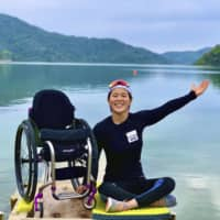 Paralympic canoeist Monika Seryu has relocated to Ogimi, Okinawa Prefecture, in order to continue training following the closure of facilities in Tokyo. | KYODO