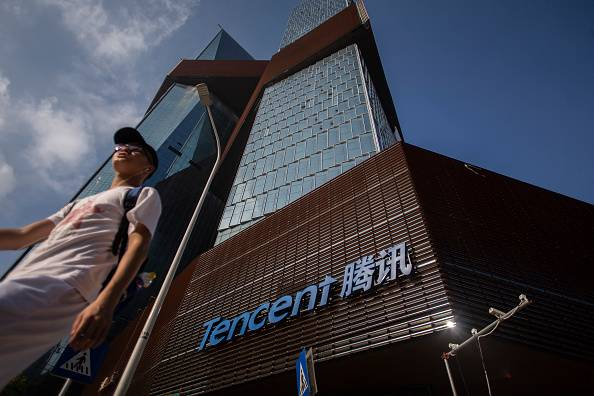 Chinese internet services giant Tencent Holdings Ltd. will try to boost the target of its cloud business operating in Japan by the end of this year, according to a company official.  | GETTY IMAGES / VIA KYODO