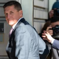 Former U.S. National Security Advisor Gen. Michael Flynn arrives for his sentencing hearing at the U.S. District Court in Washington on Dec. 18, 2018.  | AFP-JIJI
