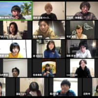 Talking heads: The members of Gekidan Telework have begun livestreaming interactive performances via Zoom and YouTube. | © CHOCOLATE INC.