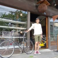 Masanori Hashimoto, general manager of Tokyobike, at the bicycle maker's headquarters in Yanaka, Tokyo. Hashimoto says the novel coronavirus is fueling demand for bicycles.  | ALEX MARTIN