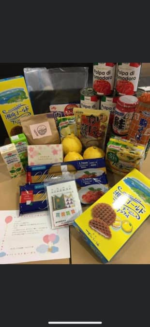 Sendai Kodomo Shokudo sends a parcel of food items to households in need after the COVID-19 outbreak prevented the group from serving meals to children. | SENDAI KODOMO SHOKUDO / VIA KYODO