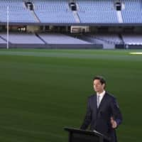 Australian Football League CEO Gillon McLachlan speaks during a news conference in Melbourne on Friday. | AP