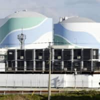 The reactor units 1 and 2 at the Sendai nuclear power plant in Satsumasendai, Kagoshima Prefecture, are seen in this photo taken in Mach. | KYODO