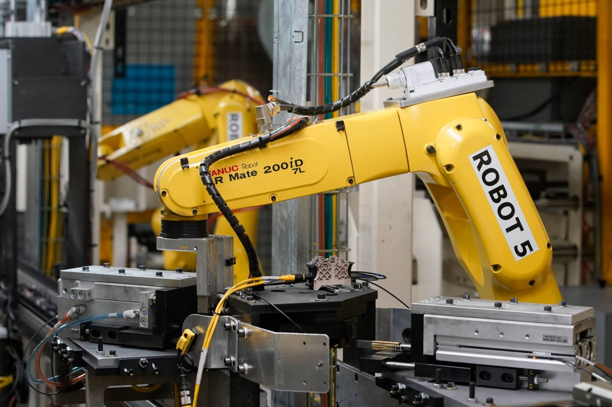 Fanuc Corp., a maker of robots used in factories for companies ranging from Apple to Amazon, saw orders in the fourth quarter to March climb 7 percent.   BLOOMBERG