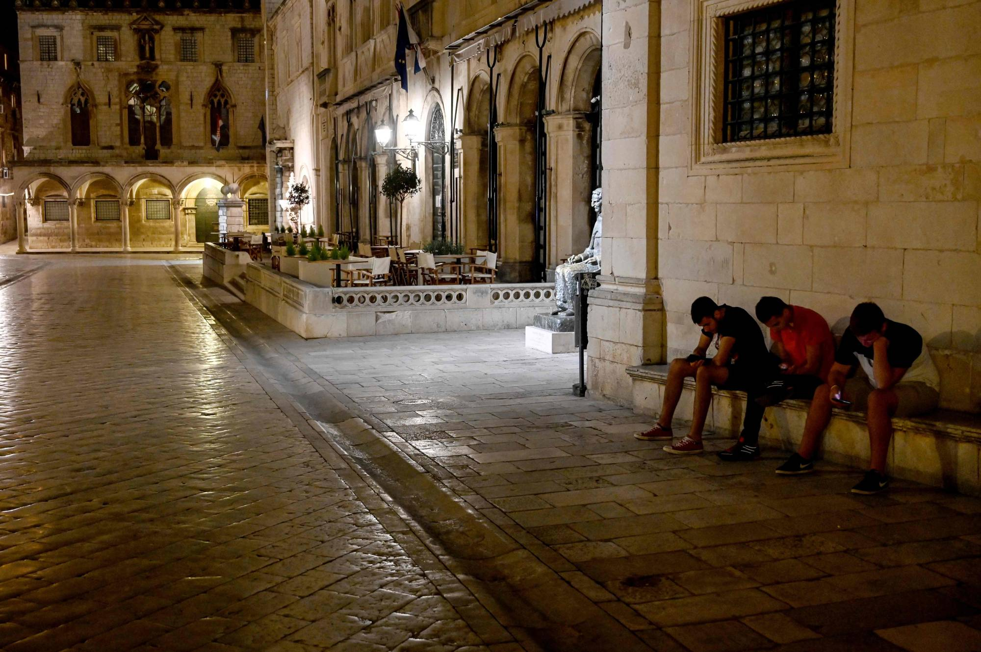 An empty street in the old town of the southern Croatian city of Dubrovnik earlier this month | AFP-JIJI