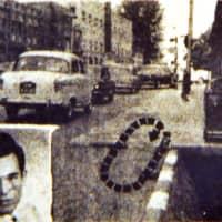 A newspaper clipping shows the area near the junction of Singapore's Bras Basah and North Bridge Road, where an attack on Oct. 24, 1969 led to the injury of nightclub singer Lim Kai Ho and the death of Lam Cheng Siew (unseen). Roland Tan Tong Meng was wanted for the murder. | SINGAPORE PRESS HOLDINGS / SHIN MIN DAILY NEWS / VIA REUTERS