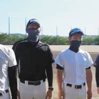 Nagano and Ishikawa high school baseball coaches tout special anti-virus masks to get game going again