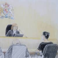 A courtroom sketch shows Meng Wanzhou, chief financial officer of Huawei, as the judge reads a ruling at the B.C. Supreme Court in Vancouver on Wednesday.  | THE CANADIAN PRESS / VIA AP