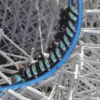 The Nagashima Spa Land amusement park reopens in Kuwana in Mie Prefecture, central Japan, on May 17 amid signs of improvement in the coronavirus situation. | KYODO