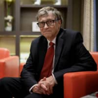 Bill Gates poses for a picture during the funding conference for the Global Fund to Fight AIDS, Tuberculosis and Malaria in Lyon, France, on Oct. 09.  | AFP-JIJI