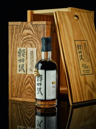 Big-ticket item: On March 18, this bottle of 52-year-old Zodiac Rat from Karuizawa Distillery sold for £363,000 (about ¥47 million) at auction, a record for Japanese whisky