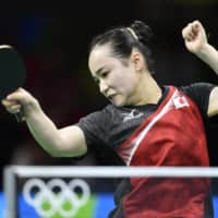 Table tennis player Mima Ito won a bronze medal in the women's team competition at the 2016 Rio Olympics, and has since reached No. 2 in the women's world rankings. | KYODO