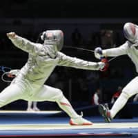 Fencer Kenta Tokunan, who lost in the first round of the 2016 Rio Olympics, is hoping to appear in the individual and team saber events at the Tokyo Games, but he still doesn't know if he'll get there. | KYODO