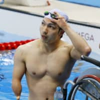 Takayuki Suzuki, who won gold in the 50-meter SB3 breaststroke at the 2008 Beijing Paralympics, is one of thousands of athletes around the world who have been left in limbo by the postponement of the Tokyo Games. | KYODO