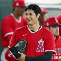 The Angels' Shohei Ohtani is among the players who could benefit from start of the season being pushed back. | KYODO