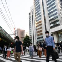 Japan's corporate profits in the January to March quarter posted the largest fall since 2009, government data showed Monday. | BLOOMBERG