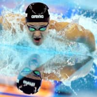 Daiya Seto competes in the men's 400m individual medley finals of the world swimming championships in Hangzhou China, on Dec. 15, 2018. | REUTERS