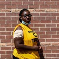 Kayla Junaye Johnson's arm was wounded by a tear gas canister fired during a protest Tuesday in Minneapolis. | AFP-JIJI