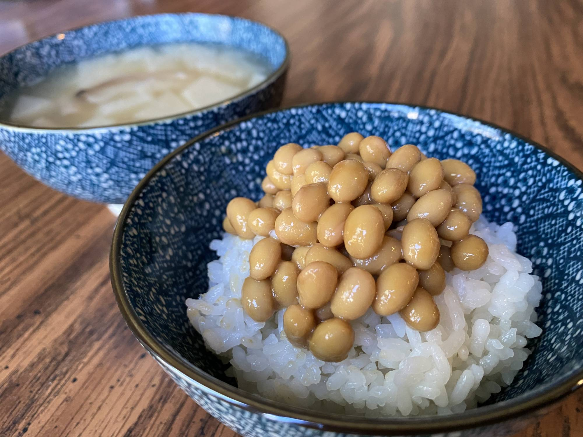 Samurai snack: The writer decided to give nattō (fermented soybeans) a try after learning the dish is known as samurai no niku (the meat of the samurai). | DANIEL MORALES