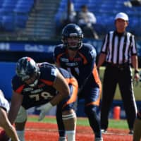 Quarterback Jimmy Laughrea spent the past two seasons with the Nojima Sagamihara Rise before signing with the Obic Seagulls in February. | HIROSHI IKEZAWA