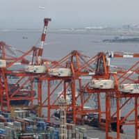 Japan's current account surplus in April plunged 84.2 percent from a year earlier as exports and spending by foreign visitors nosedived. | KYODO