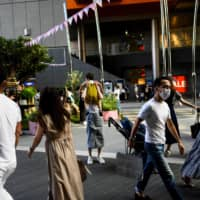 Tokyo reported 13 new cases of novel coronavirus infection on Monday, a level slightly lower than the 14 logged on the previous day, bringing the total cases in the capital to 5,396. | AFP-JIJI